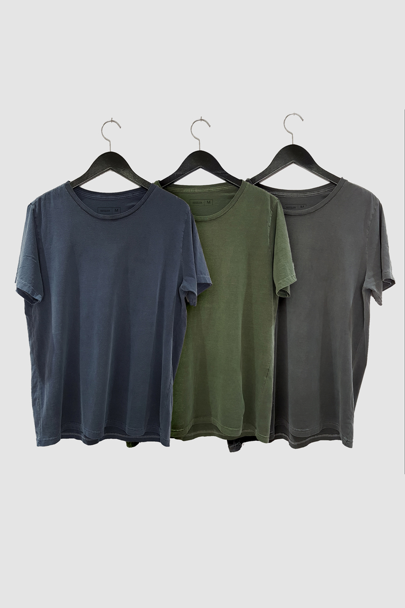 Kit 3 Camisetas de Malha Estonada Kessler