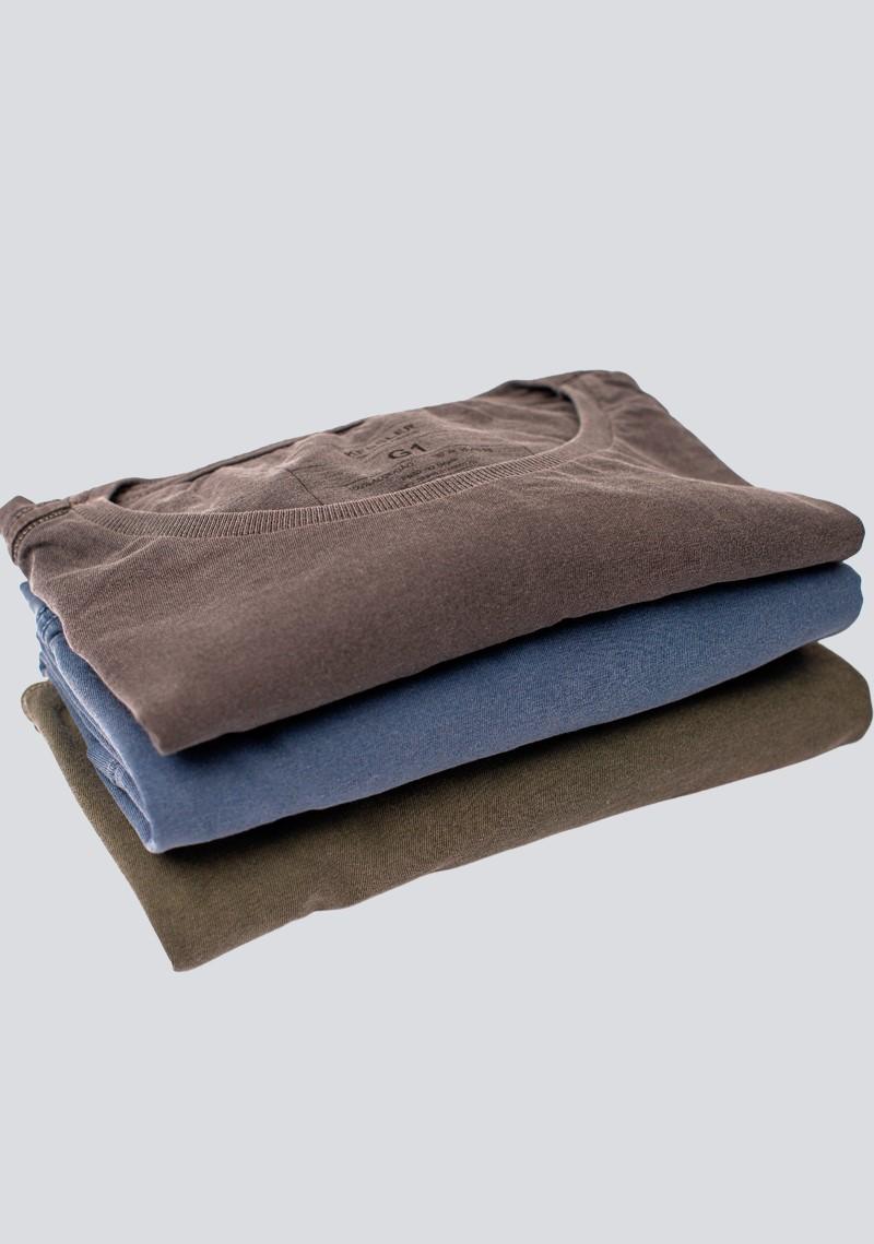 Kit 3 Camisetas Estonadas Plus Size Kessler