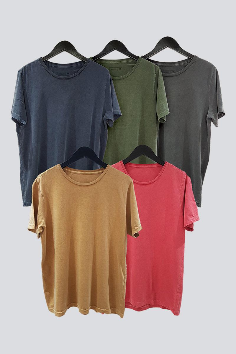Kit 5 Camisetas de Malha Estonada Kessler
