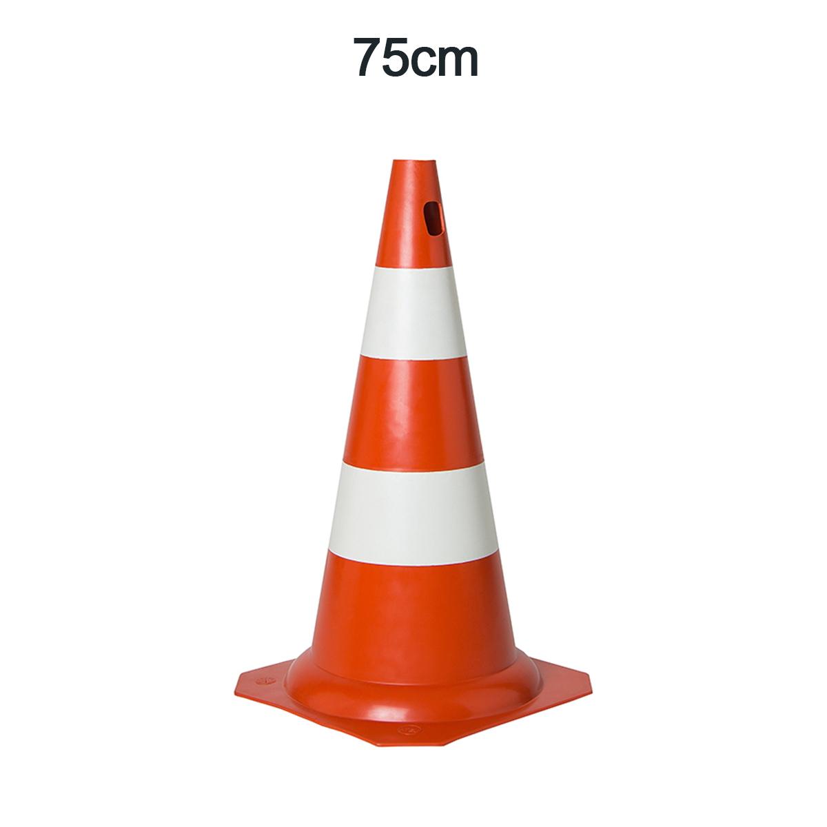 Cone 75cm lar/bco PVC