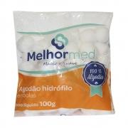 Algodão Hidrófilo bolinha 100g - Melhor Med