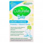 Culturelle Probiotics Baby Grow + Thrive, Probióticos + Vitamina D  9ml