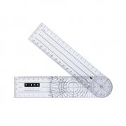 Goniômetro em plástico transparente com 2 réguas - Carci