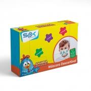 Máscara Infantil Galinha Pintadinha Caixa com 25 Unidades - SP Protection
