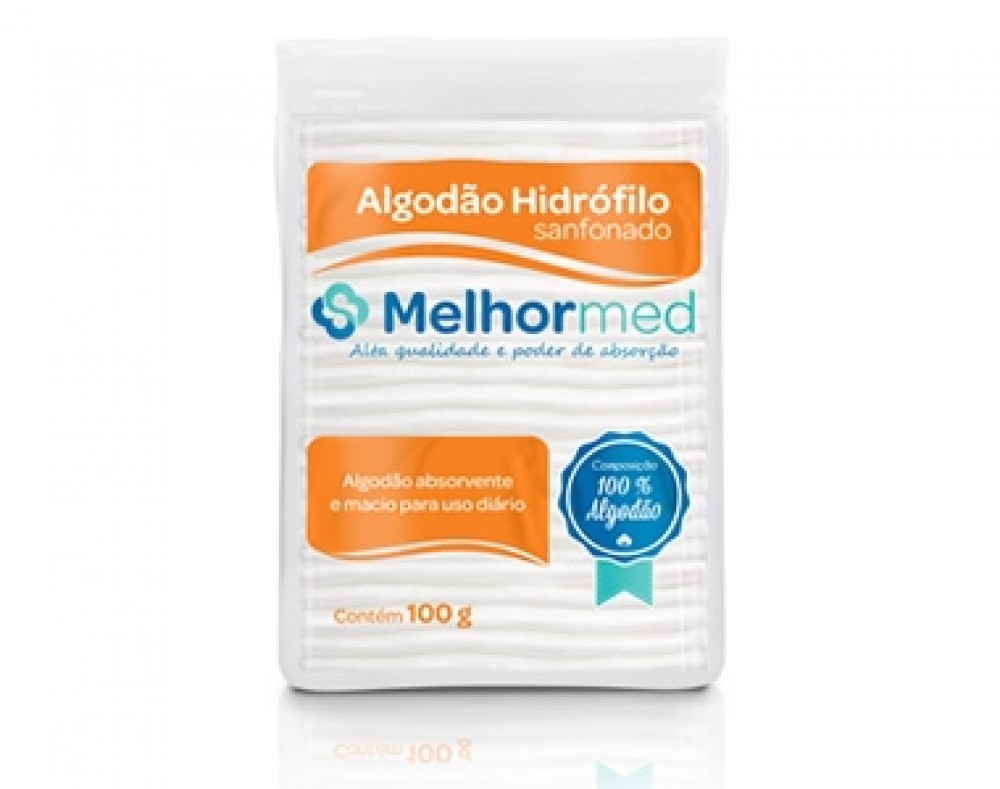 Algodão Sanfonado 100g - Melhor Med