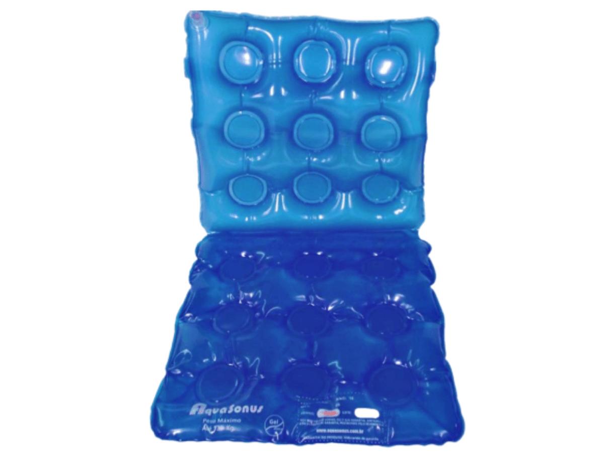 Almofada De Gel Quadrada Com Encosto Inflável - Aquasonus