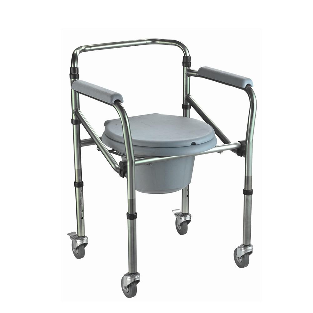 Cadeira de Banho - Balde - Alumínio - Zimex