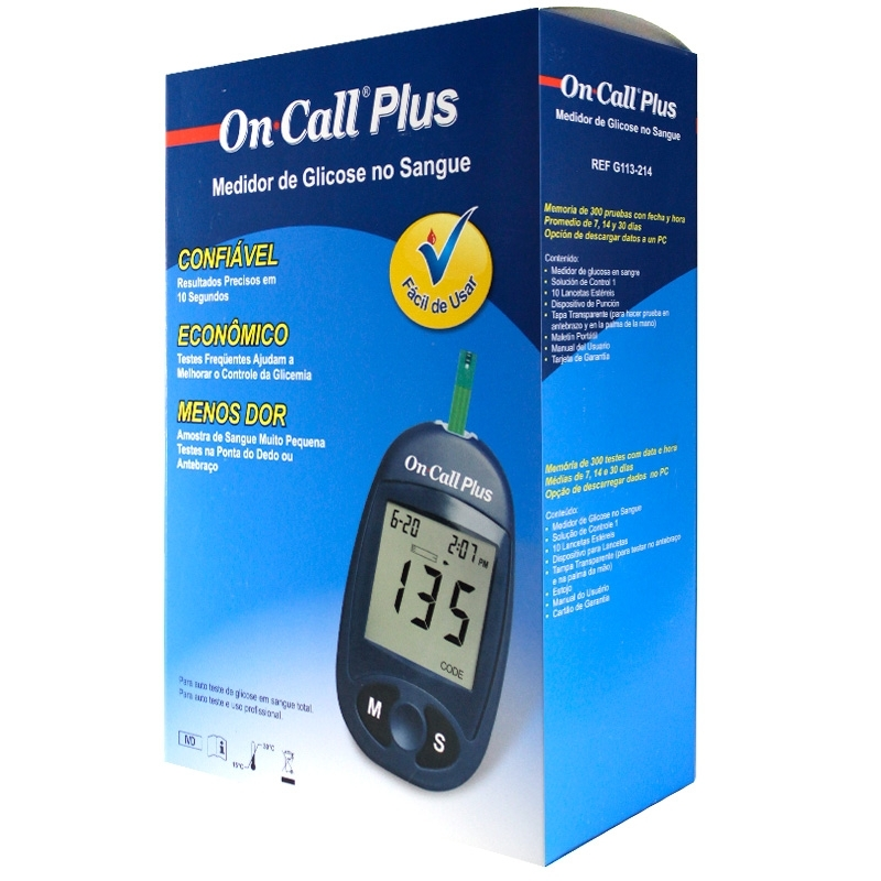 Medidor De Glicose On Call Plus