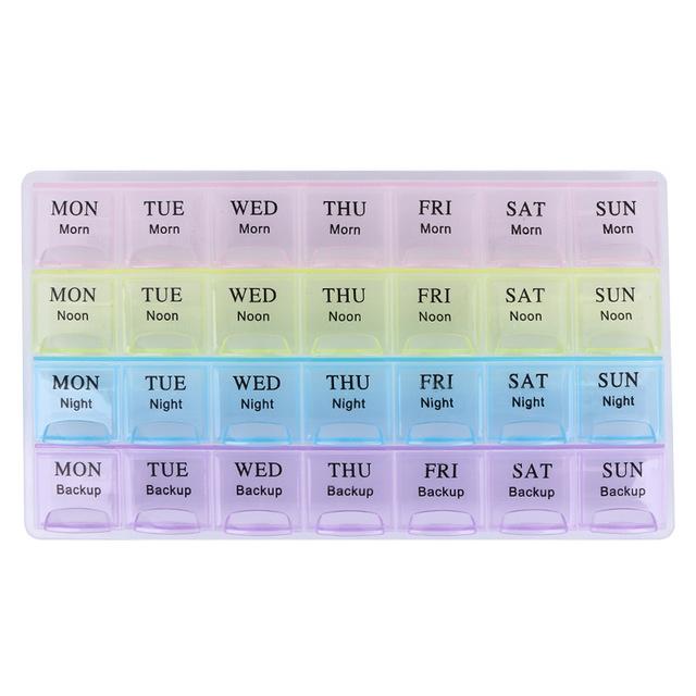 Porta Comprimidos Grande Coloridos