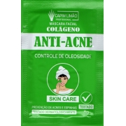 Máscara Facial Sachê 8g Anti-Acne Capim Limão