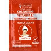 Creme Facial Sachê 8g Vitamina C Capim Limão