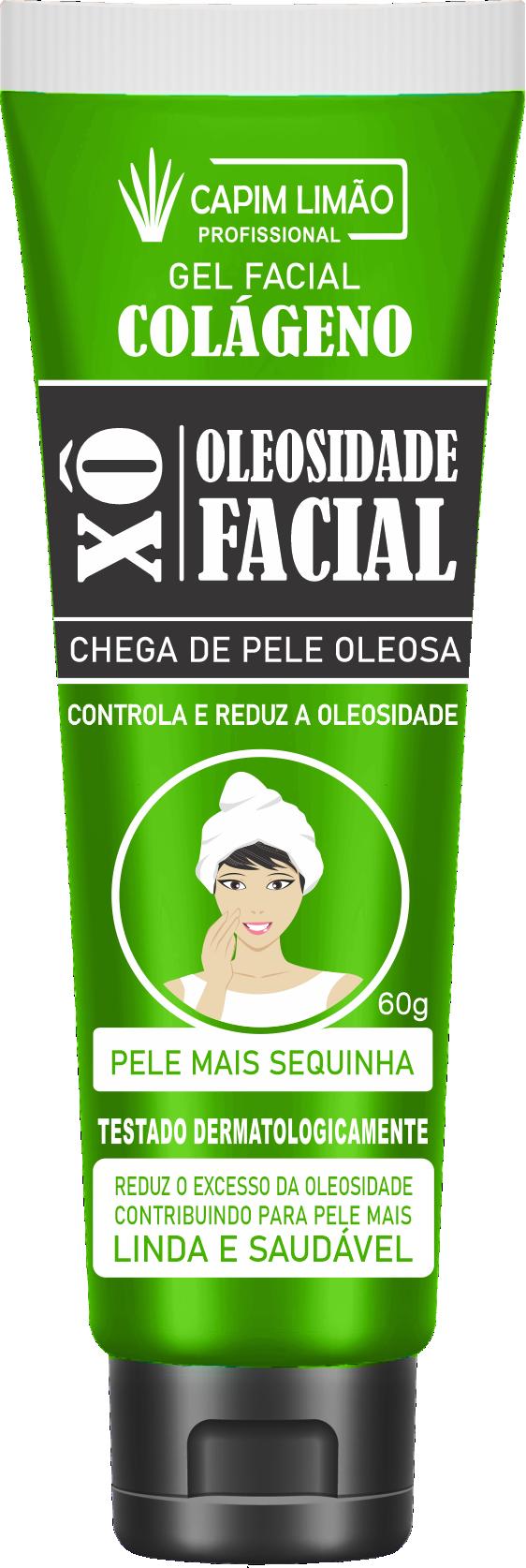 Gel Facial Xô Oleosidade 60g Capim Limão