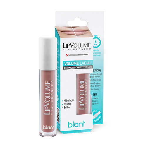 Gloss Lip Volume Hialurônico Nude Blant