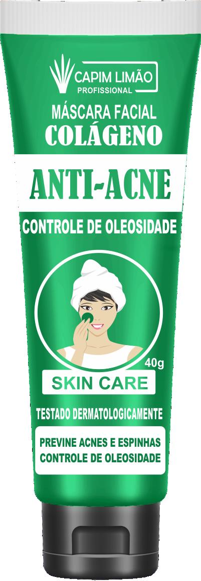 Máscara Facial Bisnaga Anti-Acne 40g Capim Limão