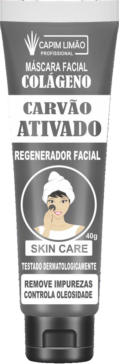 Máscara Facial Bisnaga Carvão Ativado 40g Capim Limão