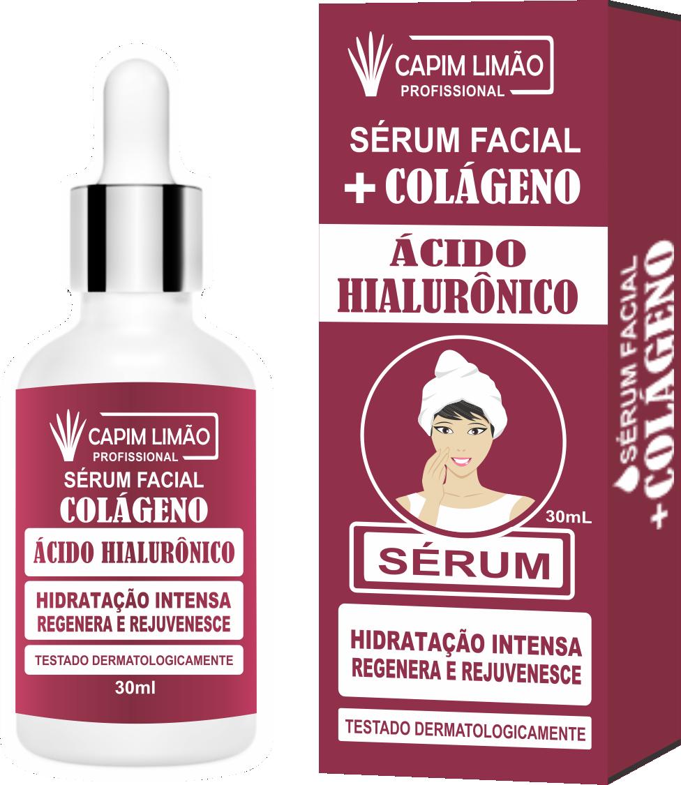 Serum Facial Ácido Hialurônico Capim Limão 30 ml