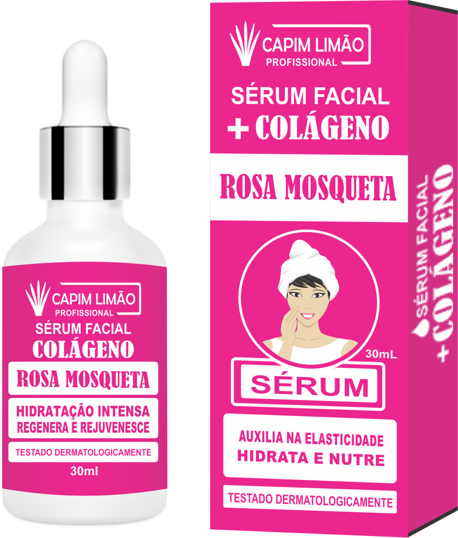 Serum Facial Rosa Mosqueta Capim Limão 30 ml