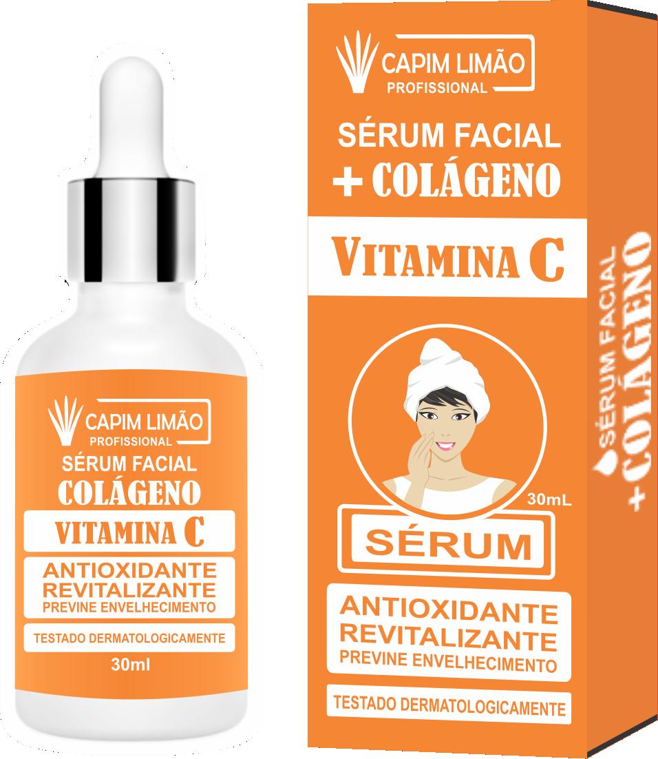 Serum Facial Vitamina C Capim Limão 30 ml