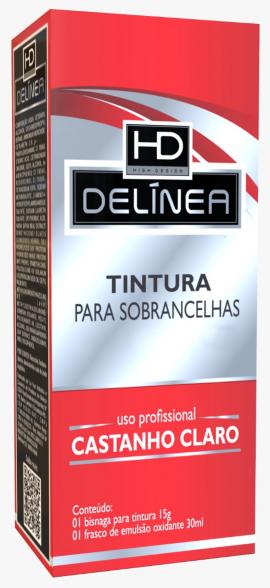 Tintura p/ Sobrancelhas Delinea Tubo 15g - Castanho Claro