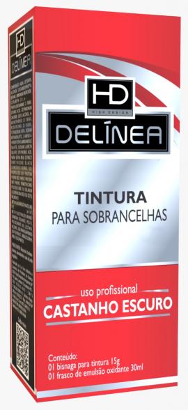 Tintura p/ Sobrancelhas Delinea Tubo 15g - Castanho Escuro