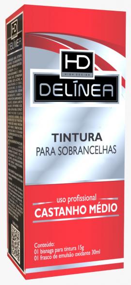 Tintura p/ Sobrancelhas Delinea Tubo 15g - Castanho Médio