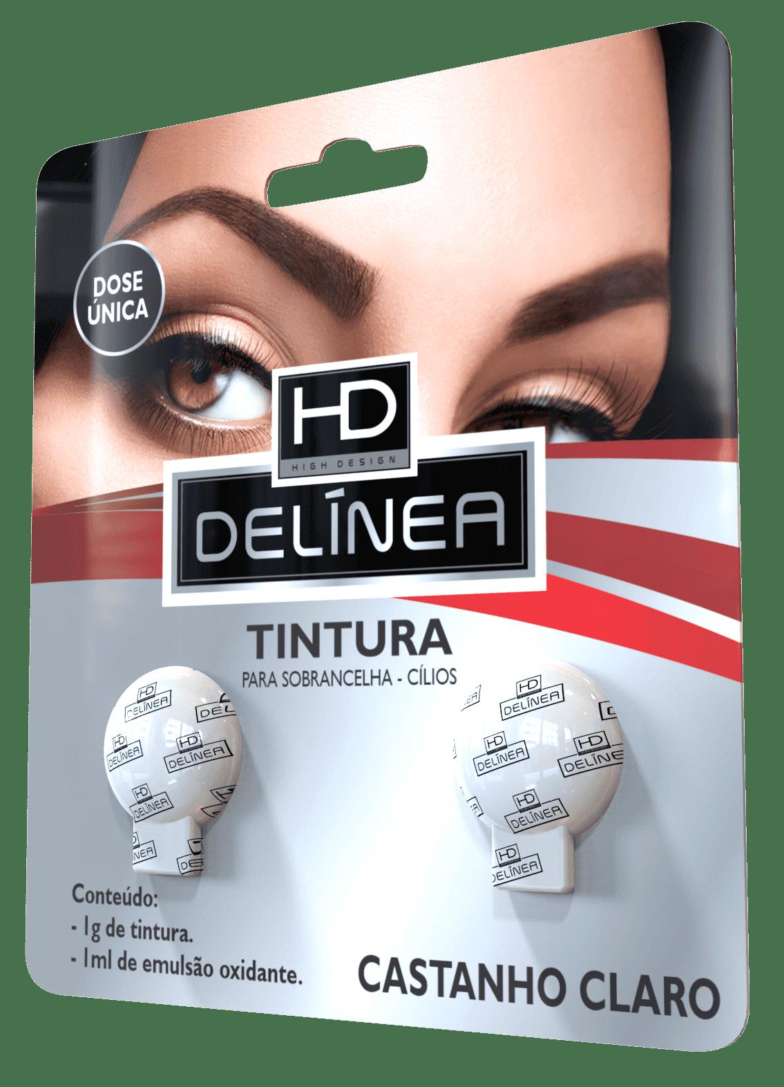 Tintura de Sobrancelhas Delinea HD Dose Única - Castanho Claro