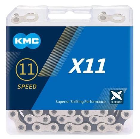 CORRENTE MTB/SPEED X11 11 VELOCIDADES PRATA/PRETA KMC