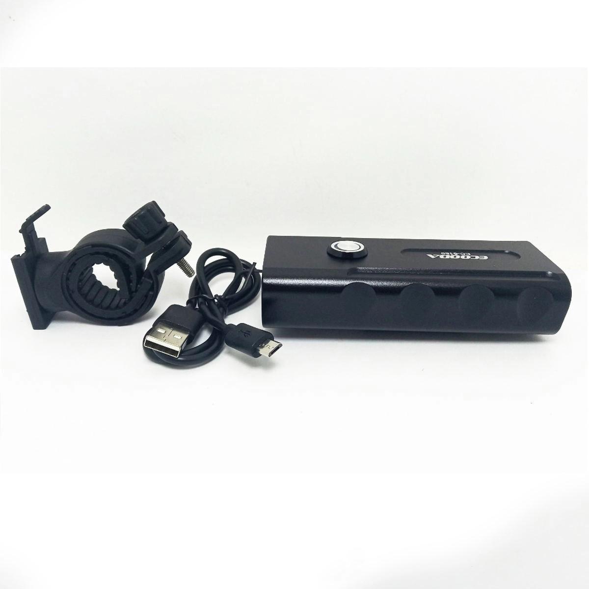 FAROL BIKE ECOODA BX3 EC-6160 3 LEDS RECARREGÁVEL USB