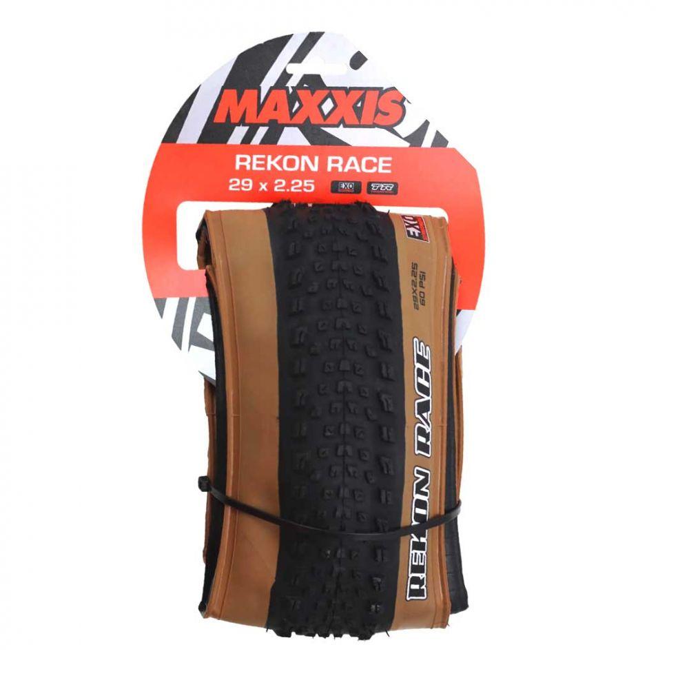 PNEU 29 X 2.25 MTB 60 PSI TUBELESS COM FAIXA MARROM REKON RACE MAXXIS