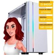 Computador Gamer Insid Intel i5-9400F, 16GB 2666, SSD 120GB, HD 1TB, GTX 1650 4GB, 500W 80 Plus - Samanta Alves