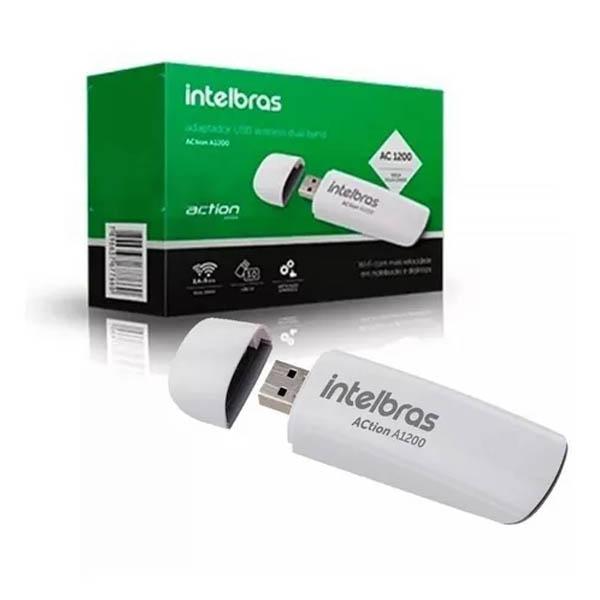Adaptador Wireless Intelbras Action  3.0 Dual Band 1200mbps - A1200
