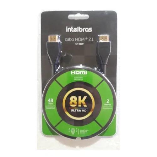 Cabo HDMI Intelbras Ultra HD 8K, 2.1, 2 metros - CH 2120