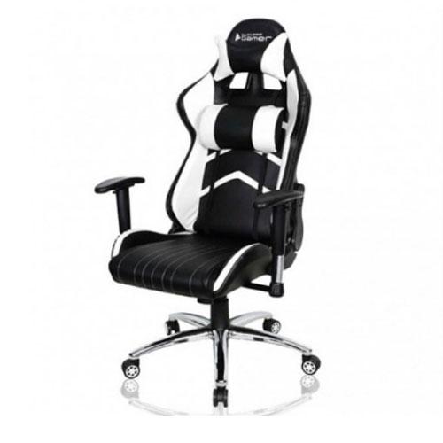 Cadeira Gamer Bluecase Crystal Branco/Preto, - BCH-25WBK