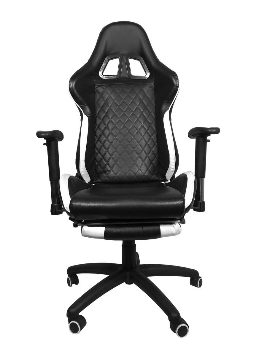 Cadeira Gamer Bluecase Platinum Branco/Preto BCH-02WBK