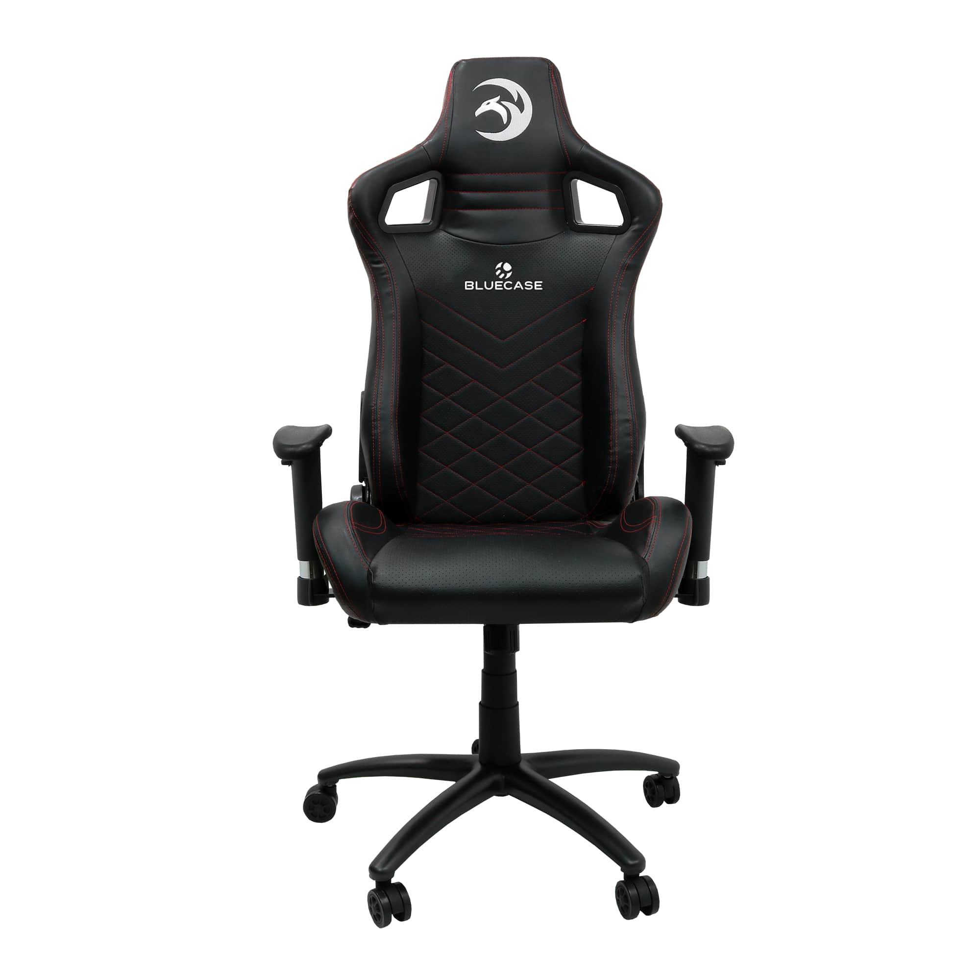 Cadeira Gamer Bluecase Preto/ Linhas Vermelhas Ruby BCH-27RBK