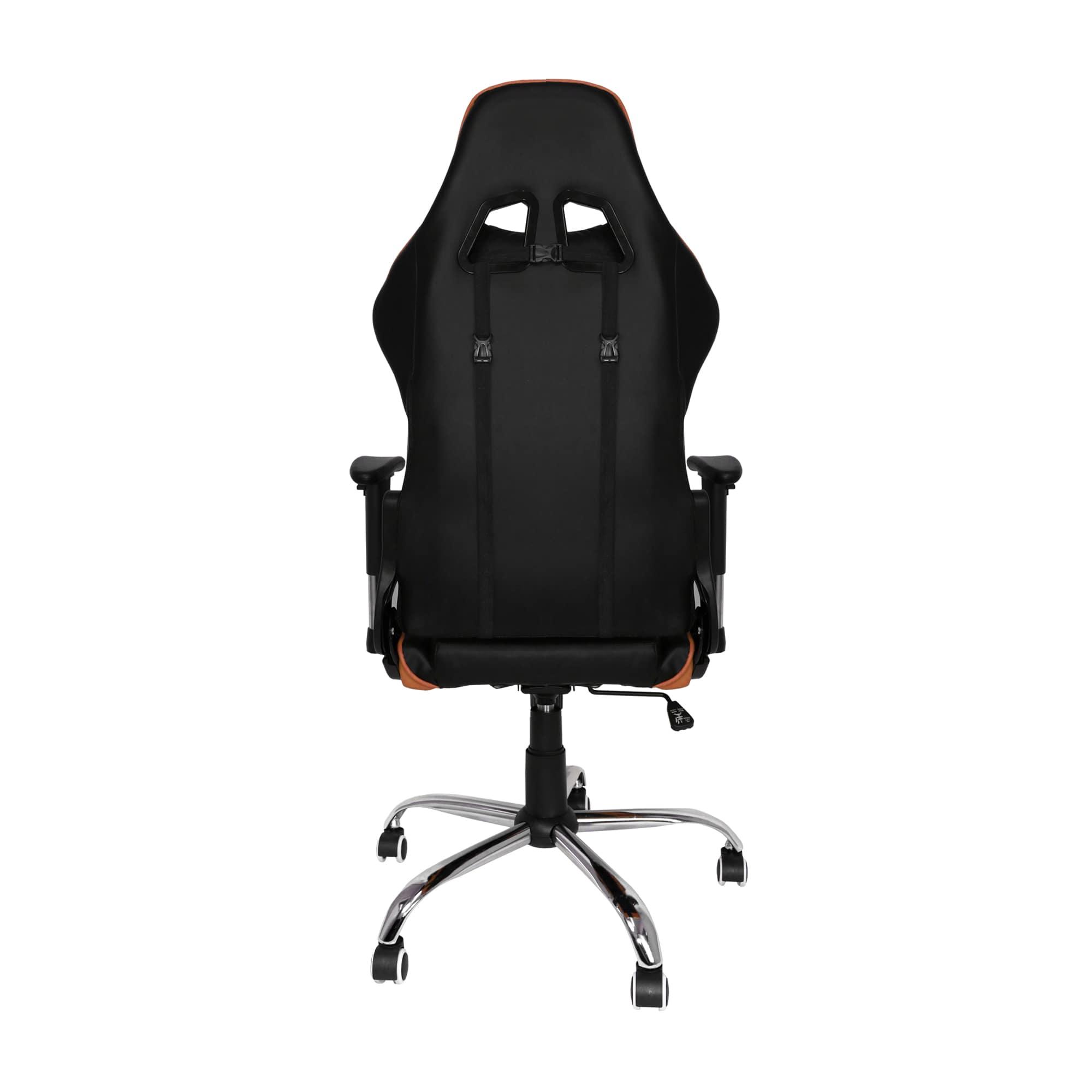 Cadeira Gamer Bluecase Titanium BCH-21OBK, Laranja e Preto, Reclinável.