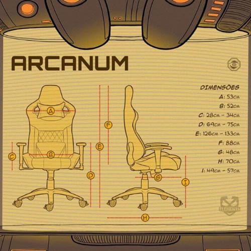 Cadeira Gamer Elements Arcanum Nemesis - Preta e Camurça