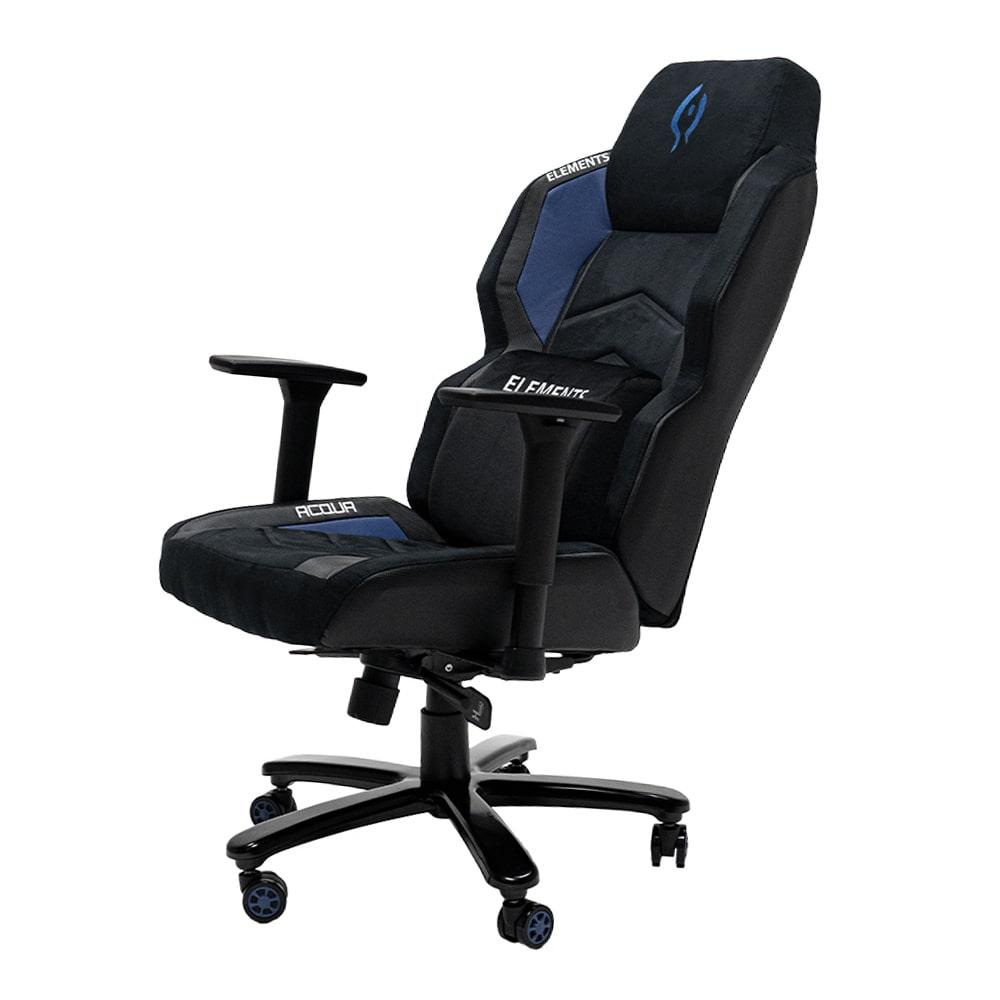 Cadeira Gamer Elements Magna ACQUA, Reclinável, Preta e Azul