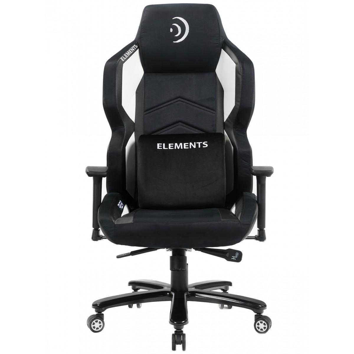 Cadeira Gamer Elements Magna AER, Reclinável, Black-White