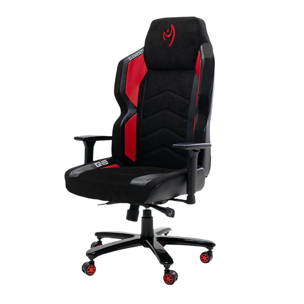 Cadeira Gamer Elements Magna IGNIS, Reclinável, Preta e Vermelha