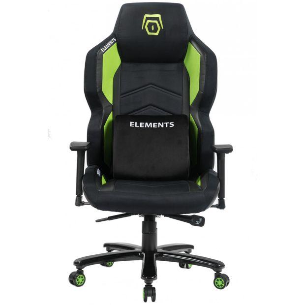 Cadeira Gamer Elements Magna TERRA, Reclinável, Black-Green