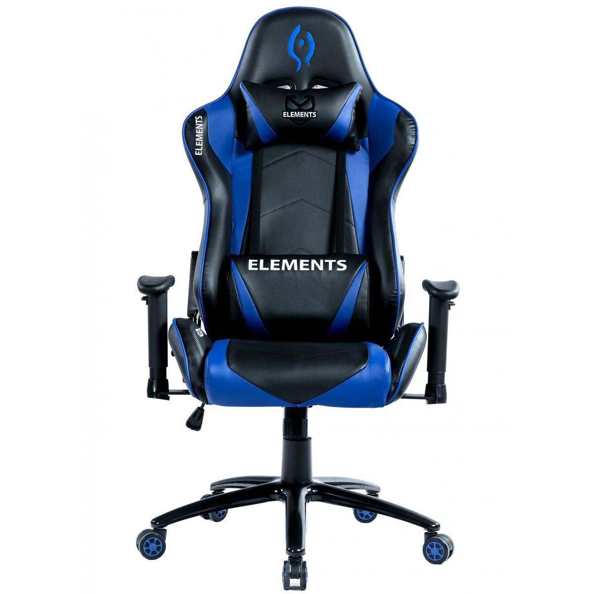 Cadeira Gamer Elements VEDA ACQUA Azul / Preta , Suporta até 150KG.