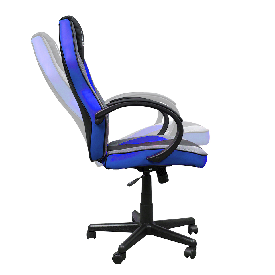 Cadeira Gamer Hoopson Preta e Azul - HP-CG503