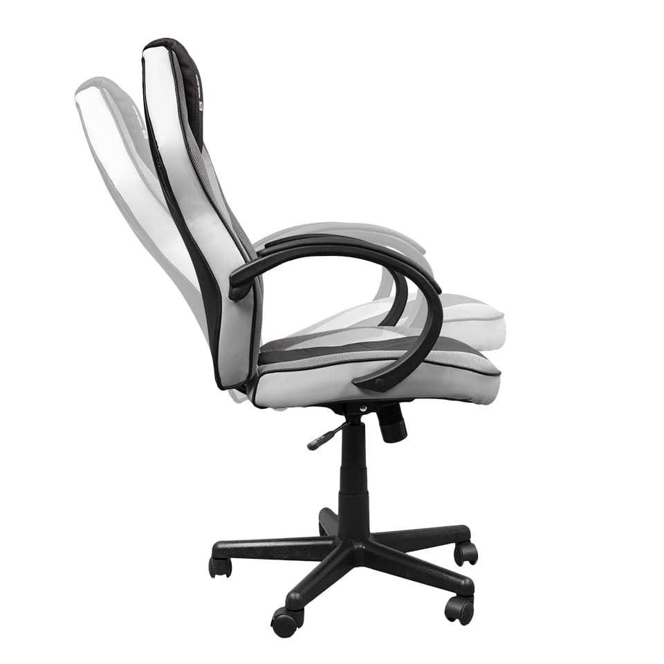 Cadeira Gamer Hoopson Preta e Branca - HP-CG501
