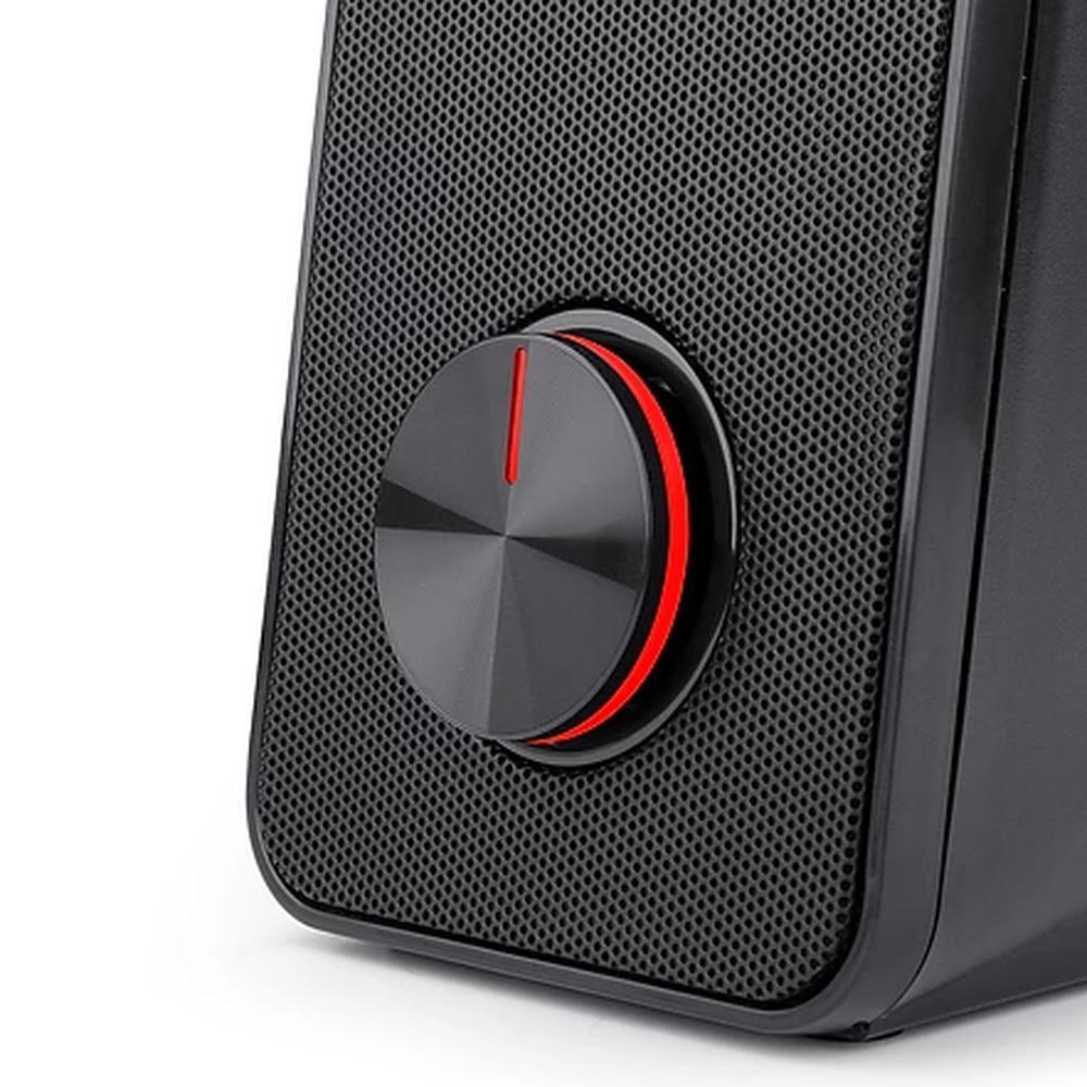 Caixa de Som Redragon Stentor GS500 2X3W 3.5MM Preto e Led Vermelho
