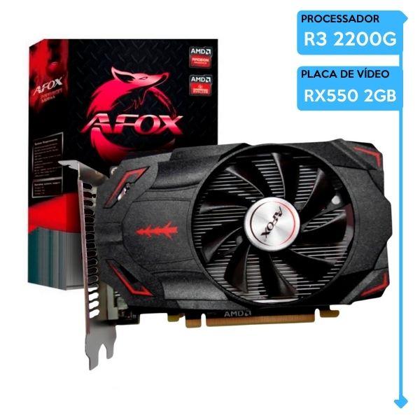 Computador Gamer Low AMD Ryzen 3 2200G, 8GB 2666, SSD 240GB, RX 550 2GB, 600W