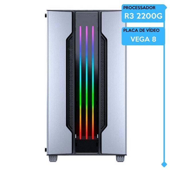 Computador Gamer Low AMD Ryzen 3 2200G, 8GB 2666, SSD 240GB, VEGA 8, 600W
