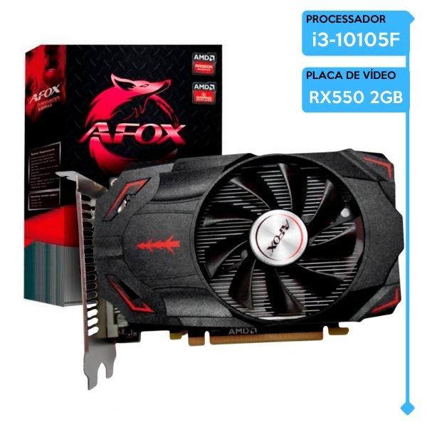Computador Gamer Low Intel Core i3-10105F, 8GB 2666, SSD 240GB, RX 550 2GB, 500W 80 Plus