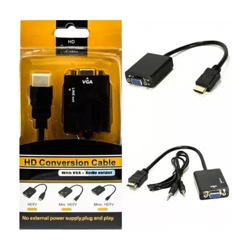Conversor HDMI/VGA MD9 Adaptador HDMI para VGA + Audio (Conversor)