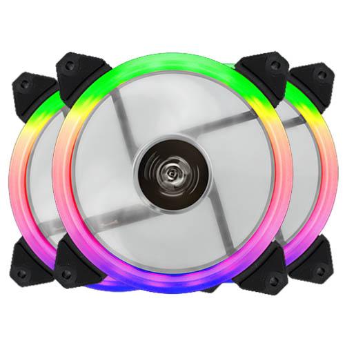 Cooler FAN Hoopson 12x12cm RGB Kit com 3 Fans - GT-120C